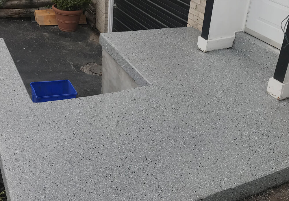 Toronto porch concrete repairs and overlay finishes
